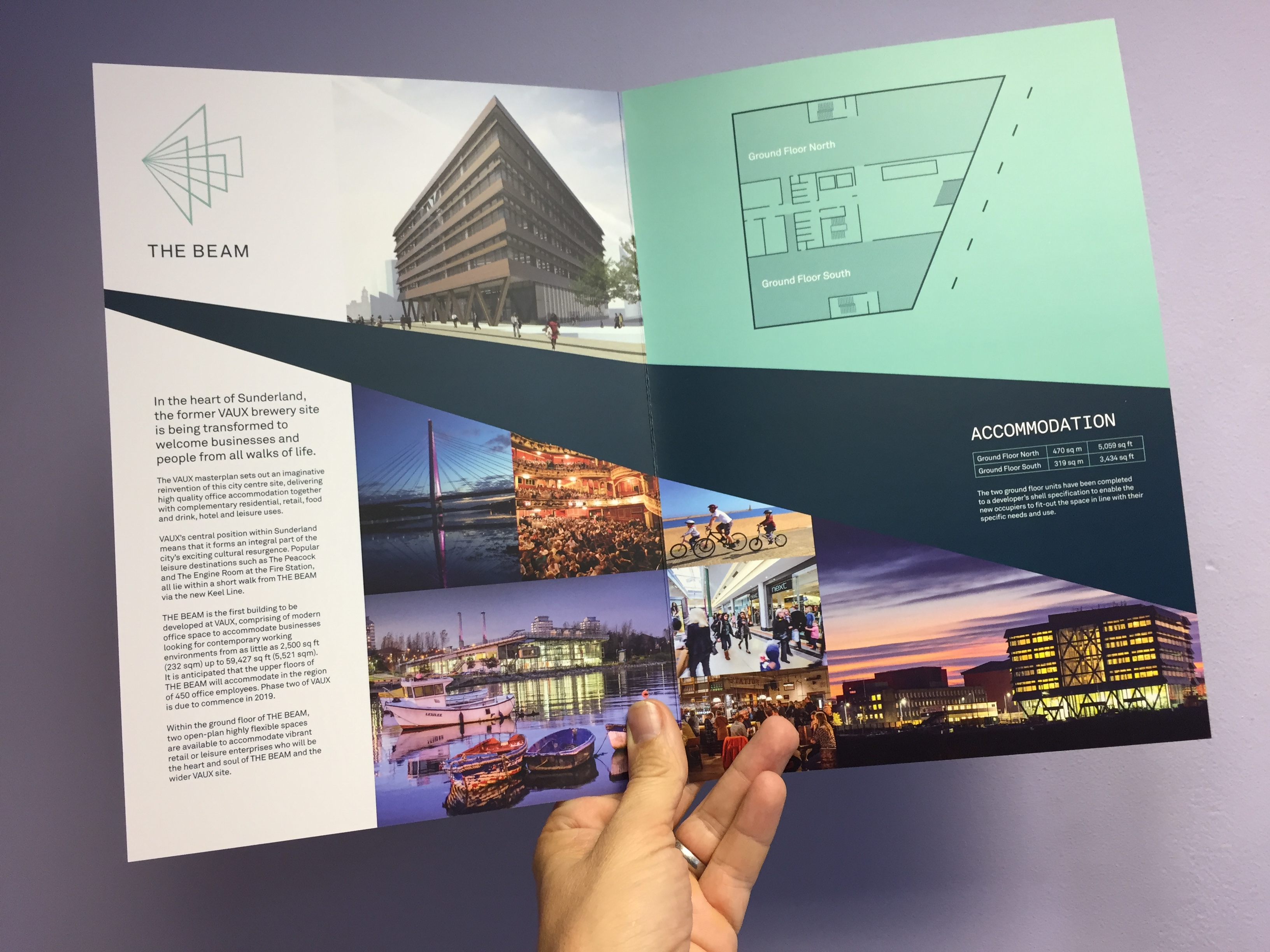 THE BEAM, Sunderland – New Retail / Leisure marketing brochures