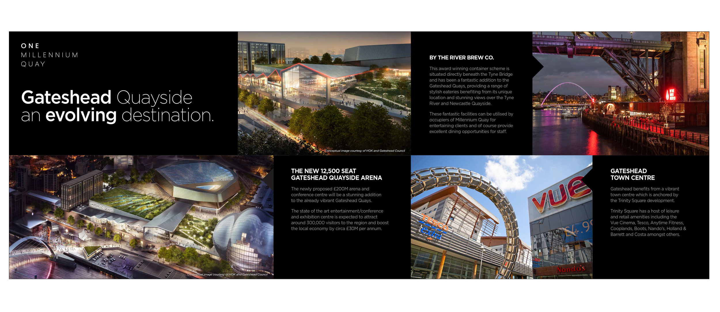 One Millennium Quay, Newcastle Quayside - brochure spread